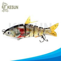 multi jointed fishing lure hair tail herring Kesun lure CH6J02F swimming hard bait with soft tail
