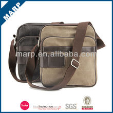 Fancy canvas tablet leather bag for 10 inch