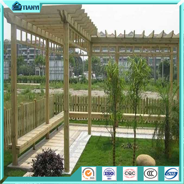 chinese style wooden cheap modern balcony patio metal aluminum wpc pergola