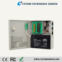 12vdc 5amp power distribution system power supply box support backup battery for access control systems
