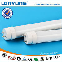 18w 4FT 120cm direct-replace led tube fluorescent light fixture plastic cover with DLC ETL TUV SAA CE ROHS DLC LCP approval