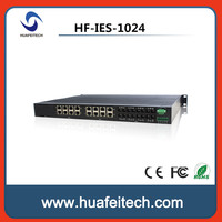 24 Fast Ethernet Ports Unmanaged DIN-Rail Industrial Ethernet Switch/8 100Base-FX+16 10/100Base-TX+16PoE Ethernet Switch