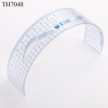 Colorful Plastic Shaping Permanent Makeup Ruler Eyebrow Tattoo Stencil for Training School