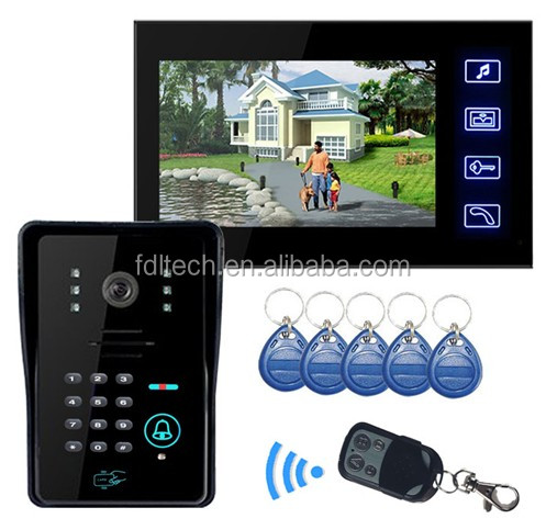 Low Power Consumption and High Definition Video Intercom Phone with Card Reader