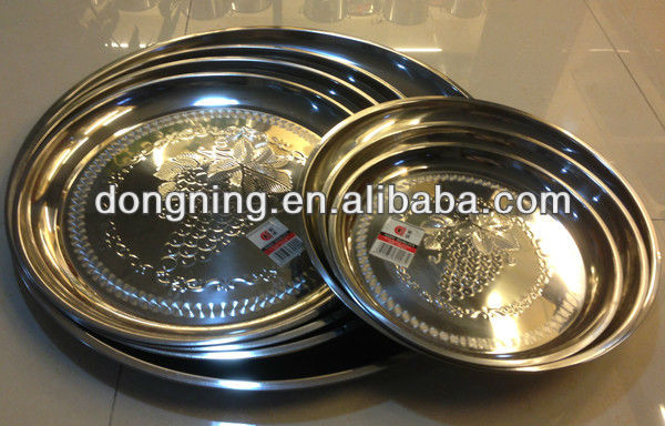 stainless steel round fruit tray
