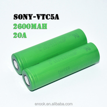 VTC5A 18650 2600mAh 40A Li-ion rechargeable battery most advanced vapor battery on big stock