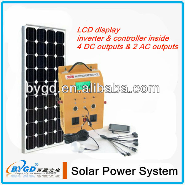 1KW DC-AC home use solar energy system