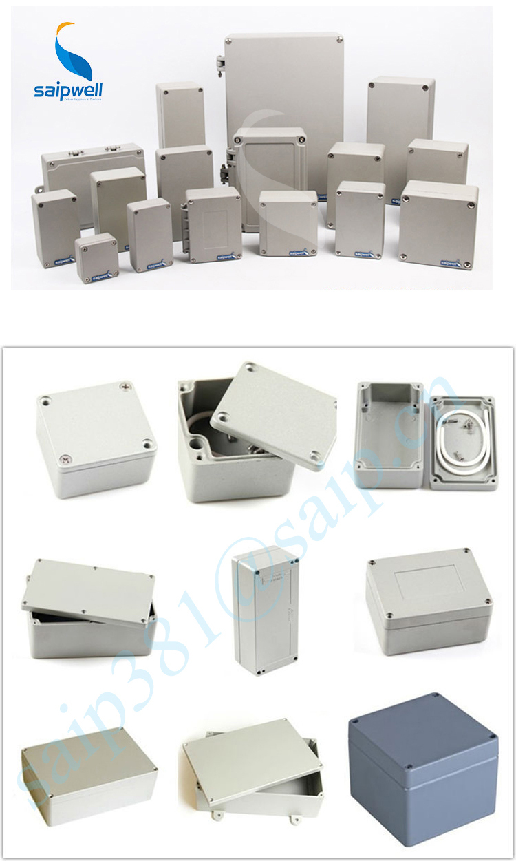 SAIP/SAIPWELL New Type IP66 High Strength Brushed Aluminium Box
