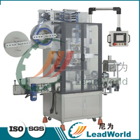 Automatic glass bottles bottleneck shrink sleeve labeling machine for extra virgin olive oil