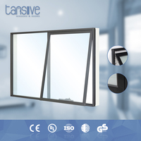 high standard easy operation top hung ventilation aluminium frame awning window glass window