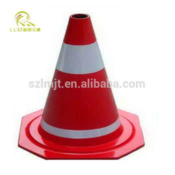 "18"" Orange Soft PVC Traffic Cone"