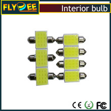 31-36-39-41MM-COB-12 led interior lamp 2x Lamp Autor Interior Festoon Dome 12 SMD Light White Car LED Bulb 41mm