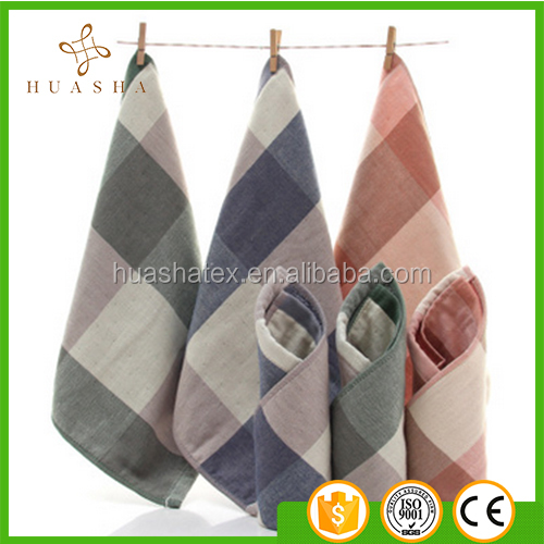100% Cotton Yarn Dyed Good Quality kerchief Hand Towel