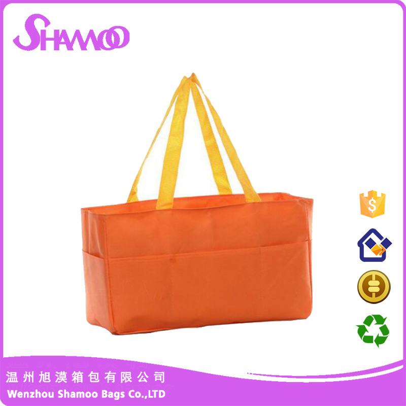 Promotional reusable plastic woven shopping bag