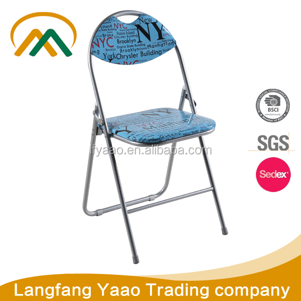 Cheap leather folding chair aesthetic chair KP-C9803