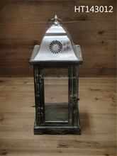 silver plate candle holder lantern