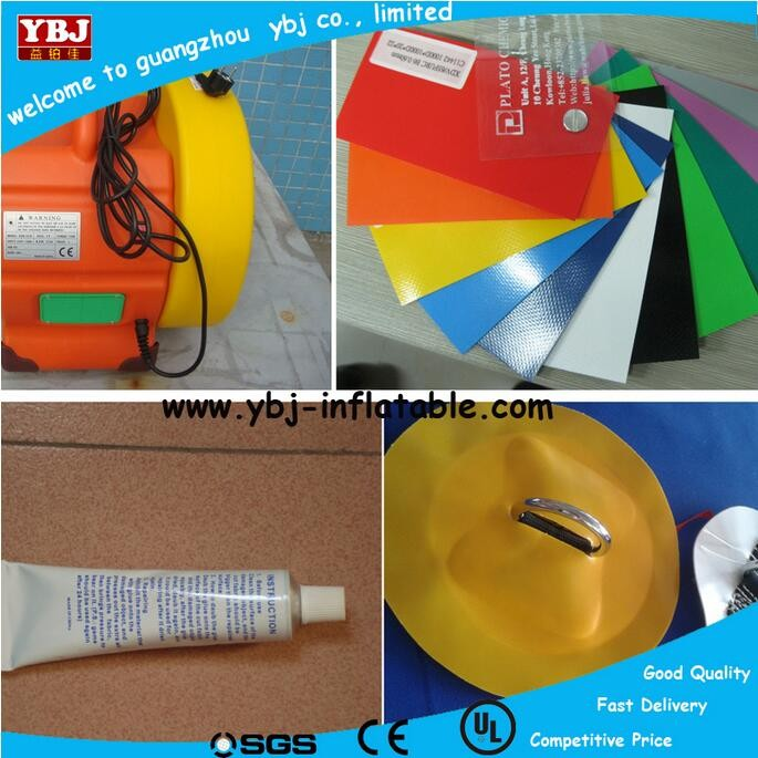 YBJ outdoor pvc slide binders, pvc valves slide, china inflatable slide