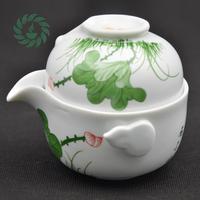 Chinese ceramic teapot porcelain kung fu tea set drinkware tea pot 1 Pot 1 Cup 1 lid Beautiful Easy Travel Tea Sets Kettle