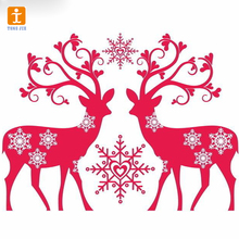 custom-made window sticker Christmas deer wall decals for chrismas display