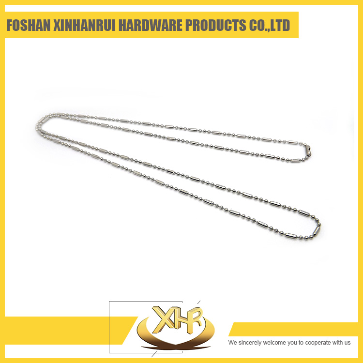 Elongated beads stainless steel ball chain For necklace WD 4.5mm