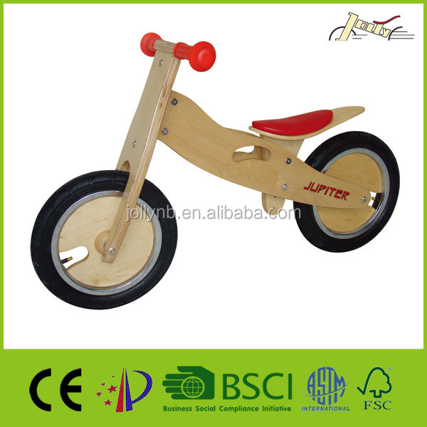 "12"" Kids Wooden Educational Bikes for Balance"