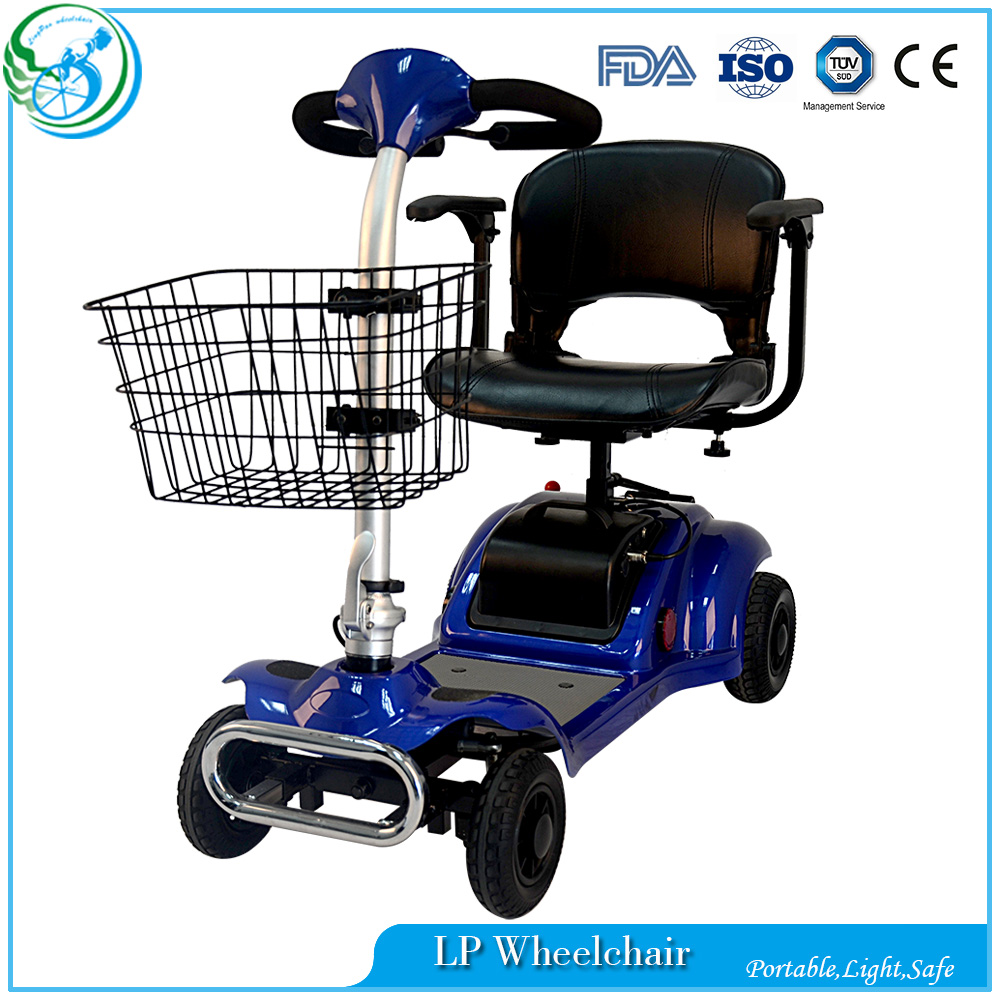 Handicapped mini electric motor mobility scooter