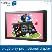 32 inch lcd in store interactive pos video display touch screen for advertising