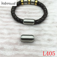 8mm round hole Custom stainless steel Clasp Jewelry Findings For Fashion Leather Bracelet