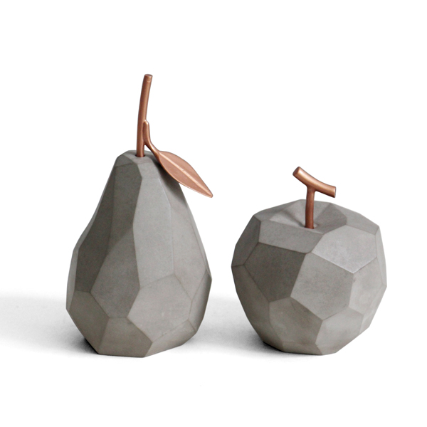 Handmade modern style fruit shape concrete nordic home <strong>decor</strong>