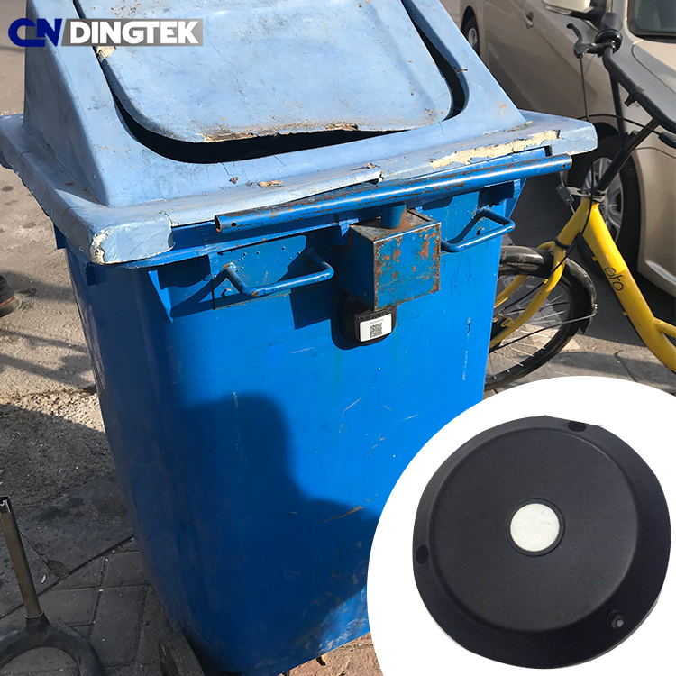 CNDingtek long battery life wireless ultrasonic garbage bin sensor trash bin fill detection sensor DF702