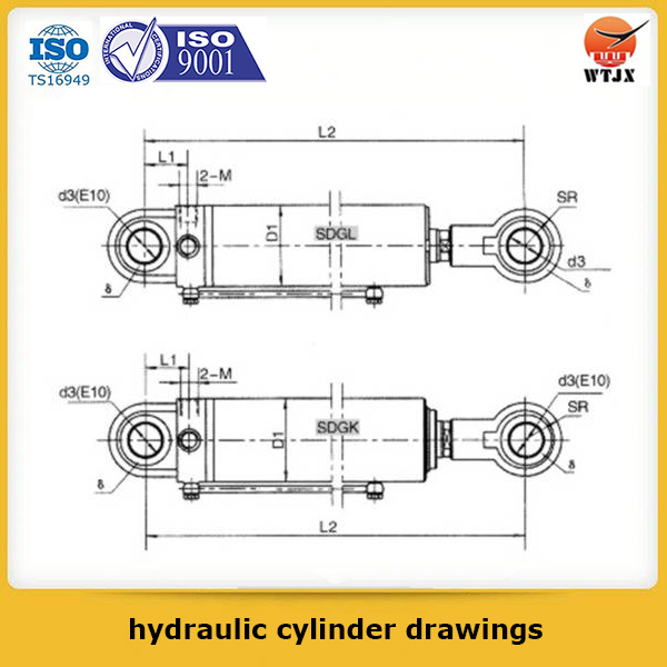 professional hydraulic cylinder drawings