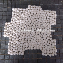 China High Quality Tile Interlocking Snow White Natural Loose Pebble Stone Tile