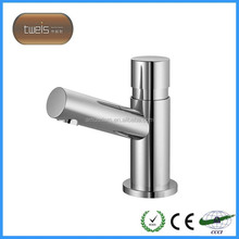 water saving brass wash basin time delay faucet