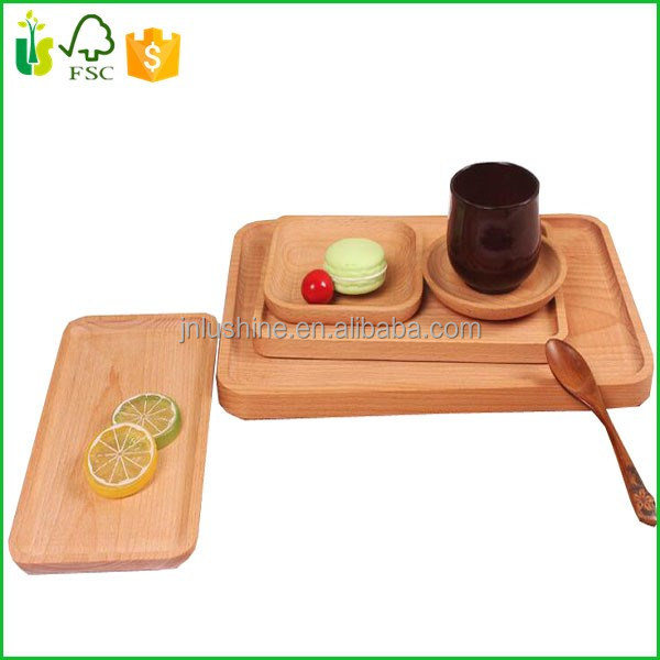 Wood Tray Food Tray Cafe Coffee Tea Bread Dish Serving Tray