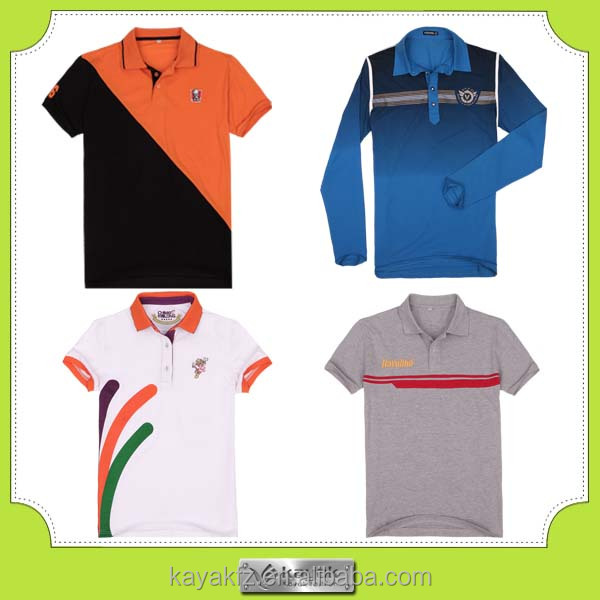 2015 trendy design color combination dry fit polo shirt