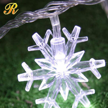 Hot Selling 220V 4M 20LED Christmas lights snowflake lamp holiday lightingwedding party decoration curtain string lights