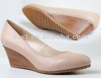 Newest design 2013 ladies high heel wedge shoes wedge dressing shoes for girls