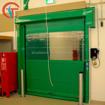 Fast roll up automatic pvc speed door