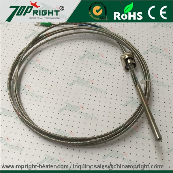 type K assemblied/ mineral insulated /spring loaded thermocouple /RTD with connection head