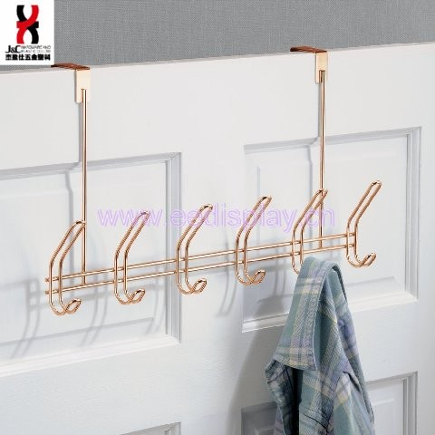 Copper Over Door Storage Rack for Jackets, Coats, Hats, Scarves, Purses