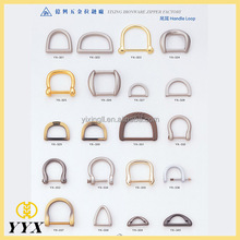 fashion bag fasteners different sizes round metal d ring
