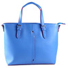 Unique Handbags 2017 Women Belt handle Tote Bag Blue and Green Color Rivet Hand Bag TCB7445