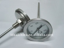 calibrated bimetal stove/oven thermometer with screw thread and column