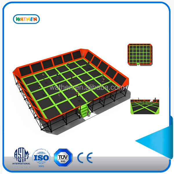Hot Sale Big Rectangular Custom Square Trampoline with Ladder
