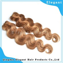 wholesale Indian remy hair mixed color hair weave