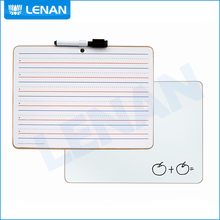 Cheap price children lapboard frameless double sided non magnetic dry erase small writing board with marker pen