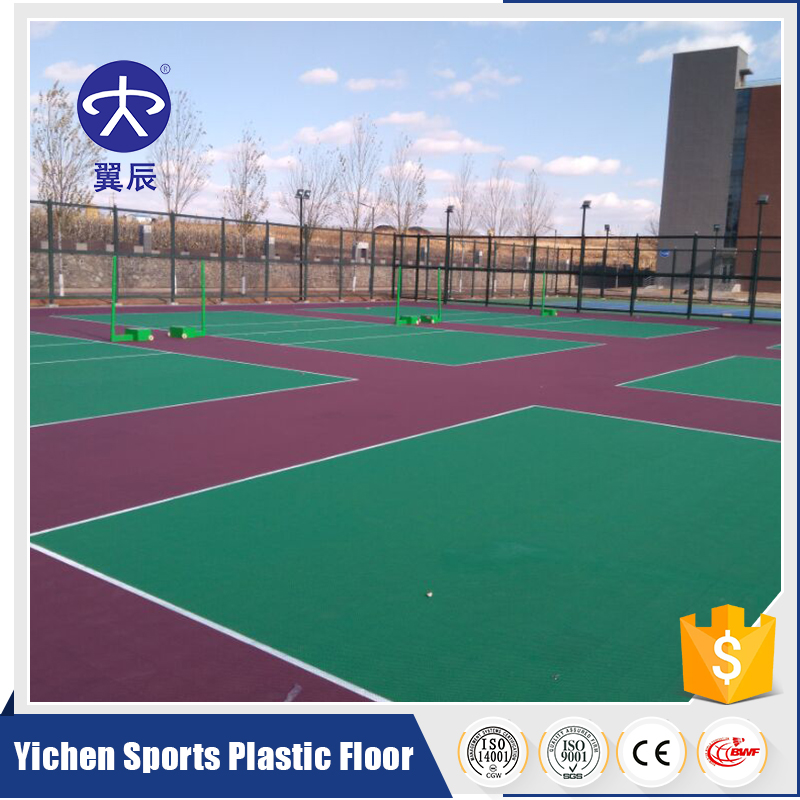 Convenience outdoor sports tile production Tennis Court Flooring PP Interlocking