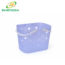 Hot selling colorful large portable empty fruit pe plastic basket tray