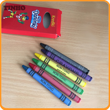 6 pcs color wax crayon set