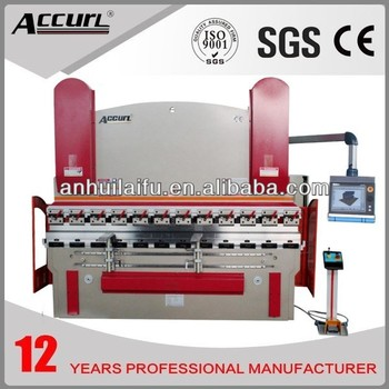 Full CNC Press Brake with 5 axis(Y1, Y2,X,R,V) Delem DA-66T CNC Controller